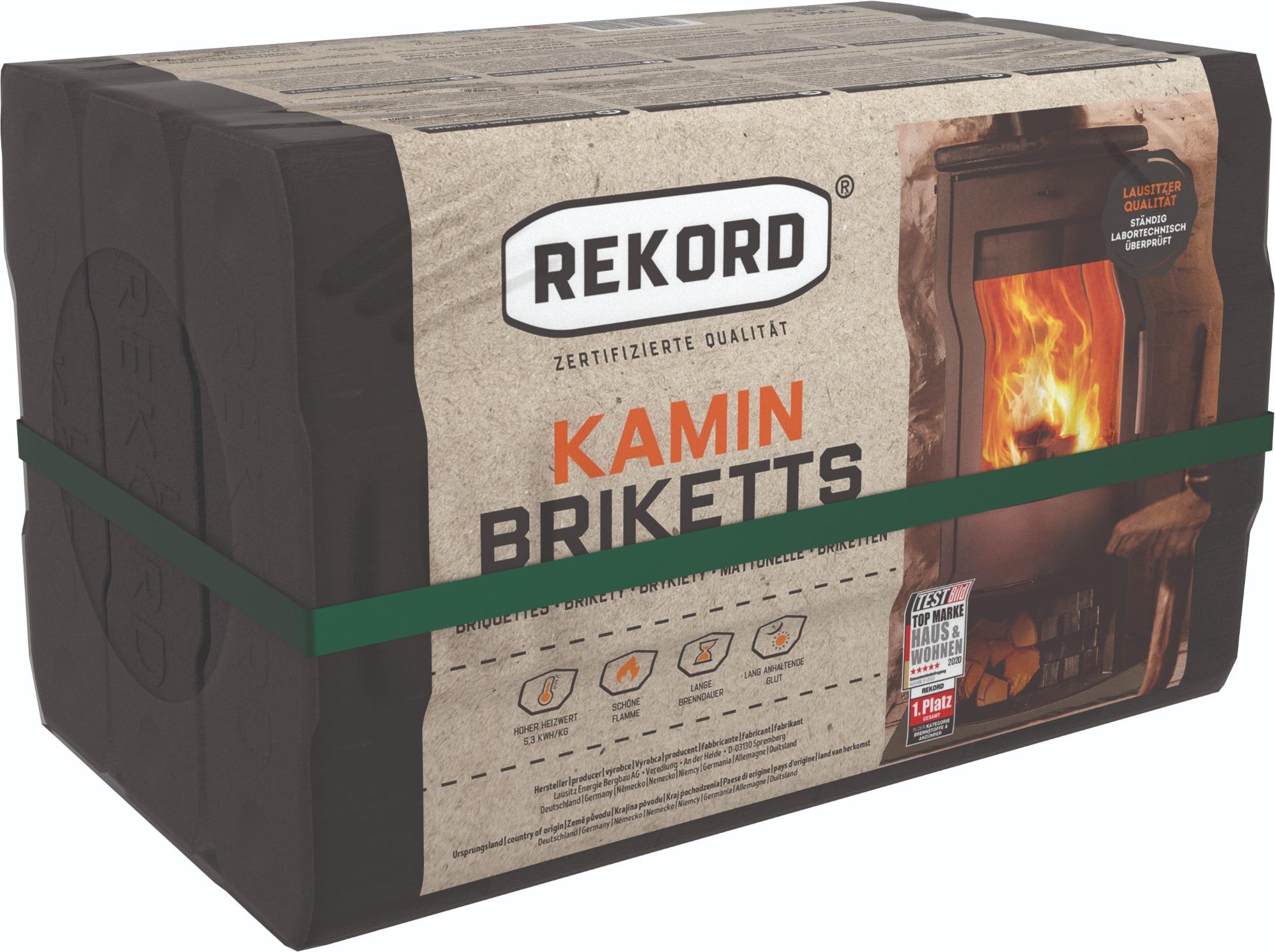 Original REKORD Kaminbriketts 10kg – Folie