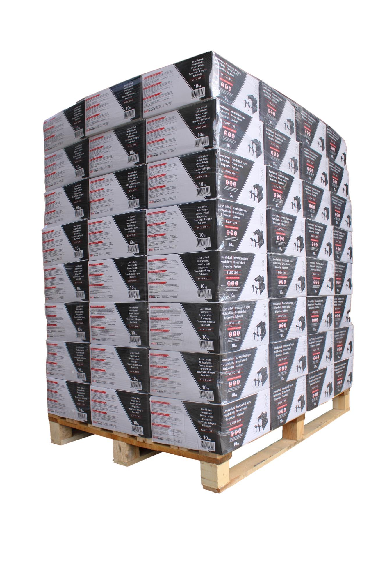 Runde Holzbriketts MISCHHOLZ - 960kg