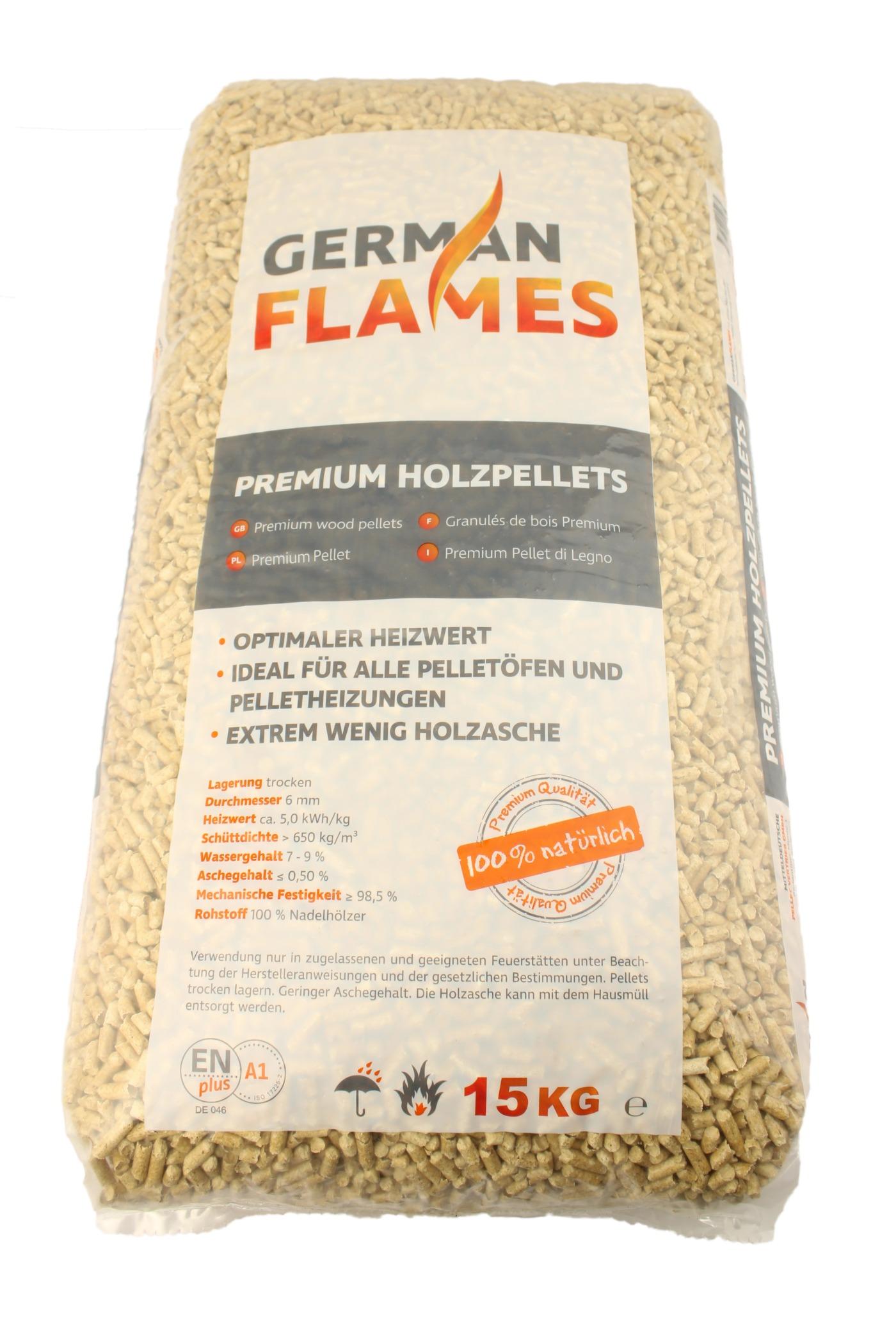 Holzpellets GERMAN FLAMES - 990kg